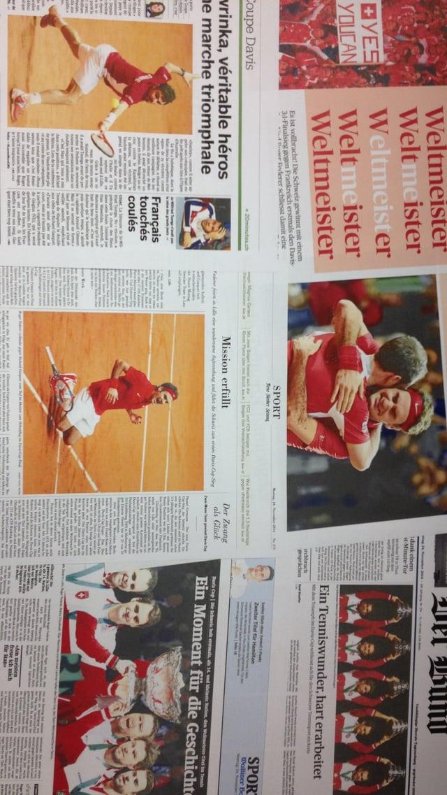 Presseschau zum Schweizer Davis-Cup-Sieg