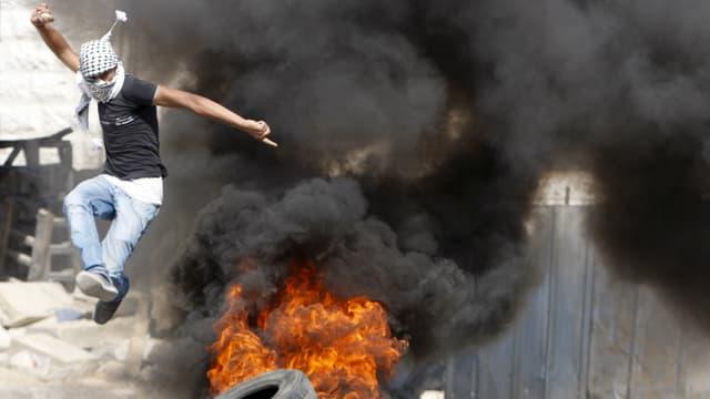 In demonstrant palestinais.