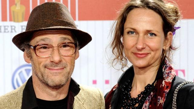 Dani Levy mit seiner Frau Sabine Lidl.