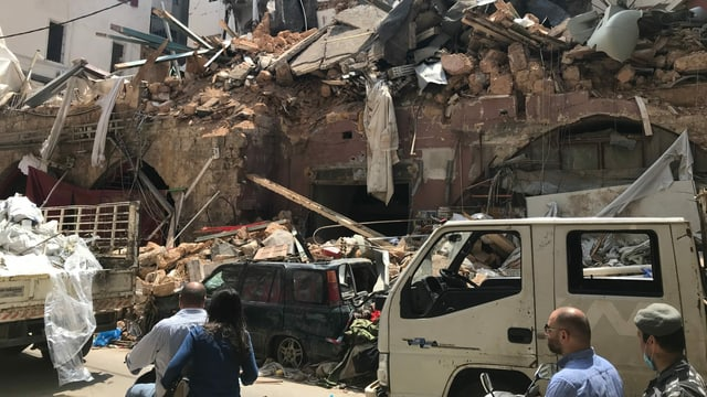 Zerstörte Häuser.