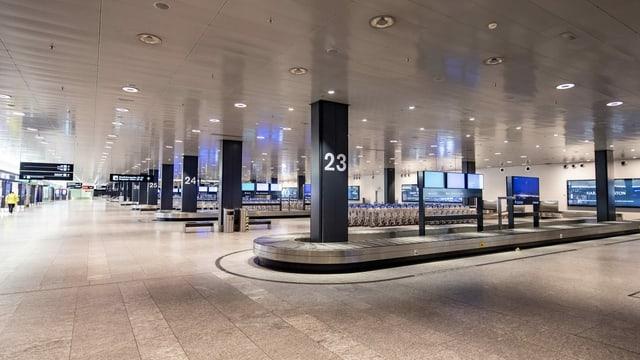 Gähnende Leere am Flughafen Zürich. Das schlägt sich in tiefroten Zahlen des Unternehmens nieder.