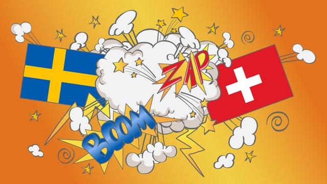 Il cumbat tranter la Svezia e la Svizra.