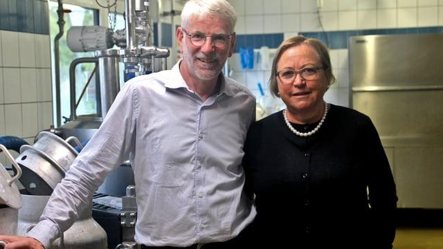 Sepp und Daniela Barmettler in der Molki Stans