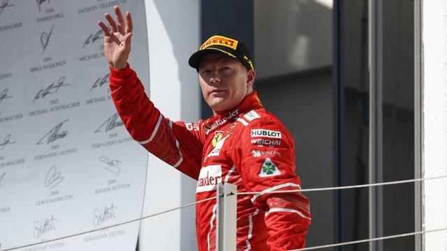 Kimi Räikkönen bleibt bei Ferrari.