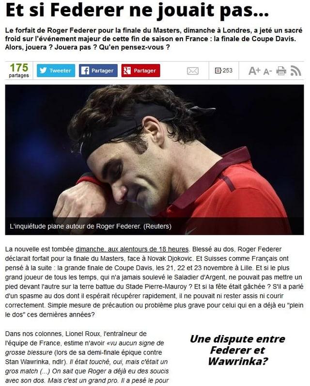 Die Website der L'Equipe