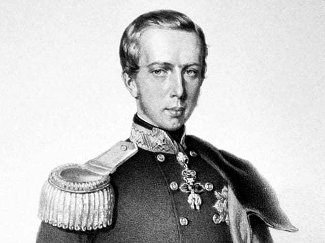 Litographie von Maximilian in Uniform.