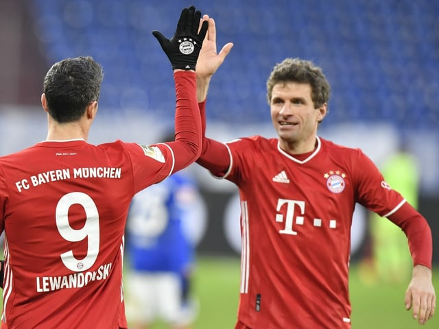 Bayerns Robert Lewandowski und Thomas Müller.