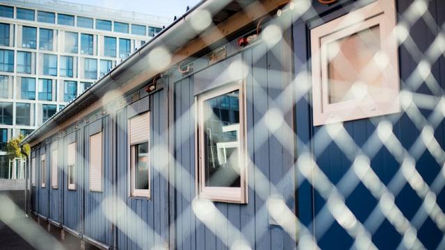Container im Bundes-Asylzentrum.