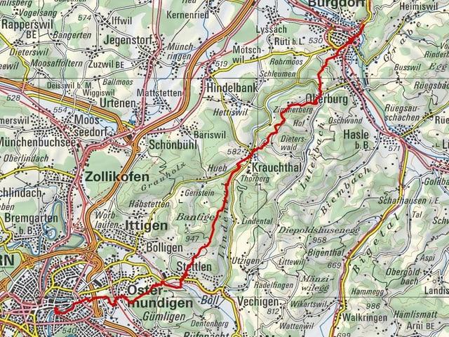 Etappe 8: Burgdorf – Bern