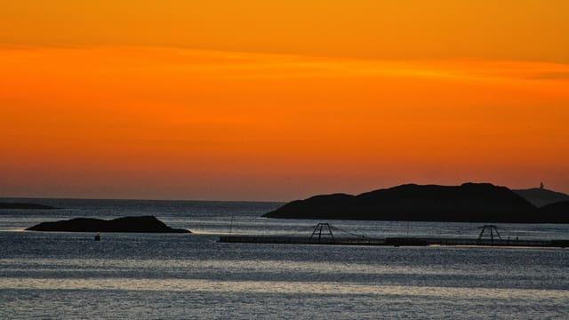 Abendrot an der norwegischen Küste.
