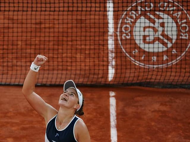 Barbora Krejcikova nach ihrem Finaleinzug.