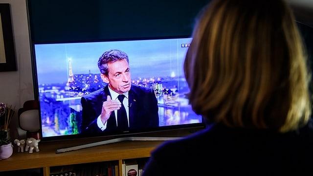 Sarkozy im TV.