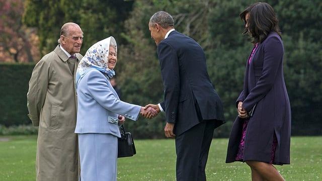 Queen Elizabeth mit Barack Obama
