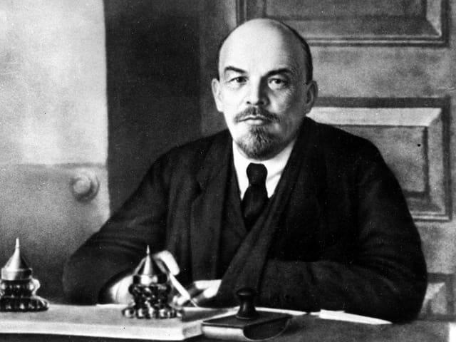 Wladimir Iljitsch Lenin, Anführer der Oktoberrevolution 1917 und Gründer der Sowjetunion 1922.