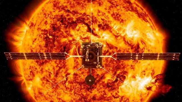 Sonde vor der Sonne – Annimation
