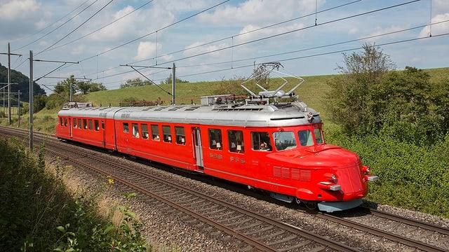 Der Rote Pfeil, ein legendärer Eisenbahnzug.