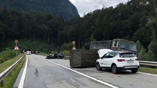 Blessads suenter accident sin autostrada A13 a Panaduz.