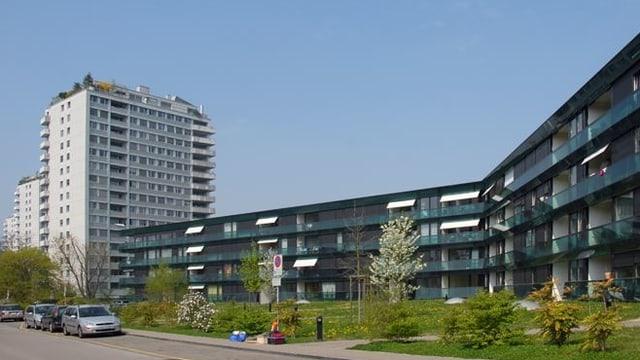 Hochhäuser in Birsfelden