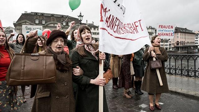 Protestierende Frauen 1971.