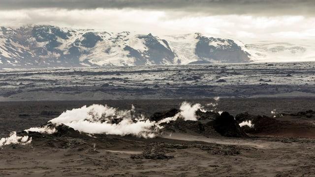 Karge, kalte Insel aus Vulkangestein: Island.