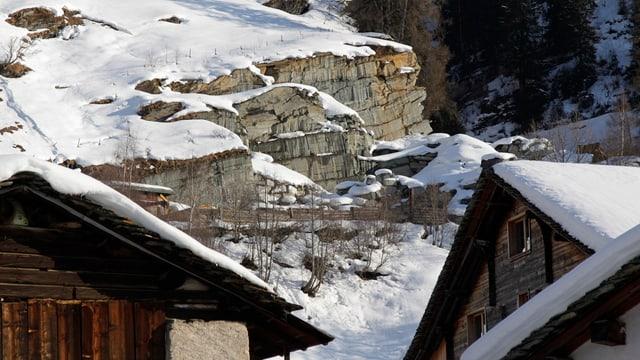 Der Steinbruch Garlag in Vals.