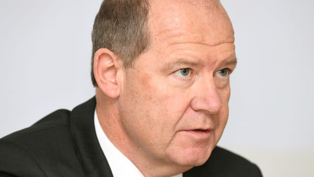 Purtret da Valentin Vogt, il president da la Federaziun svizra dals patruns.