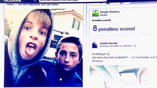 Ein Bild auf Facebook zeigt zwei Jugendliche.