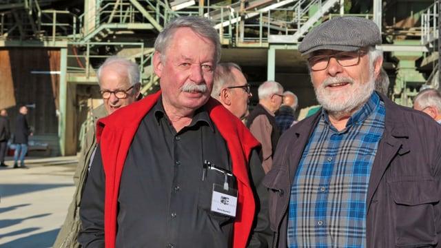 Benno Baumeler vom Männerchor Harmonie Willisau (links) und sein Kollege Hermann Morf von Concordia Willisau.