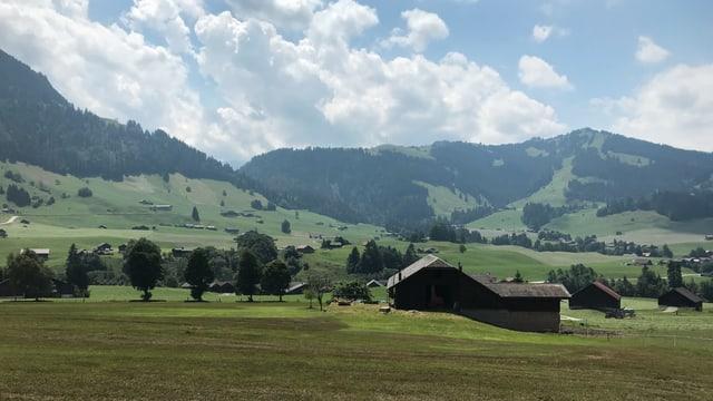 Hügellandschaft.