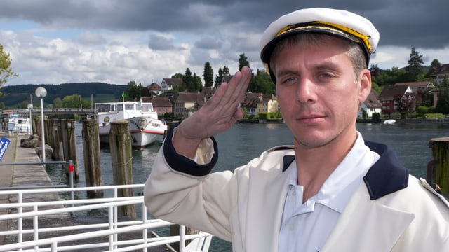 Reto Scherrer am Schiffssteg.