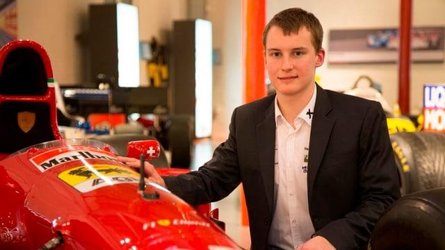 Der junge Rennfahrer Kevin Jörg aus Weesen.