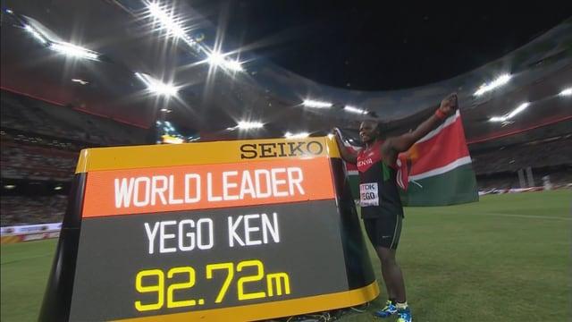 Der Kenianer brachte sich das Speerwerfen mit Hilfe von Youtube selber bei.
