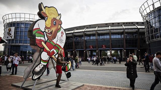 Das Eishockey-Stadion in Minsk