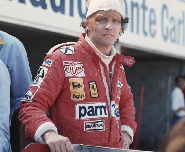 Niki Lauda im Ferrari-Overall