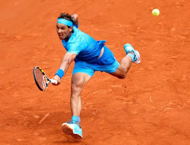 Nadal auf dem Sand von Roland Garros.