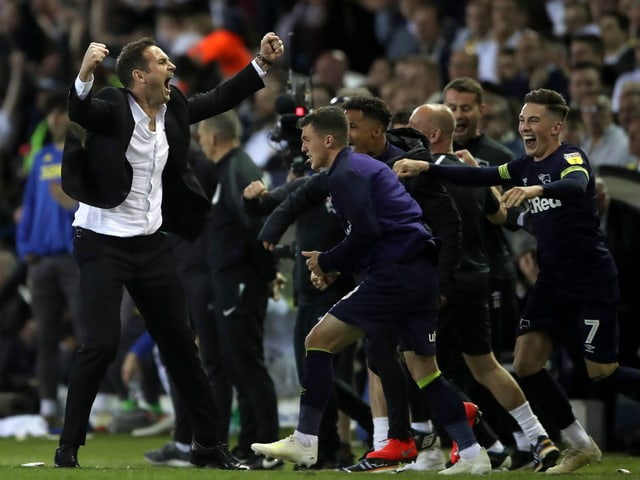Derby-Trainer Frank Lampard (l.).