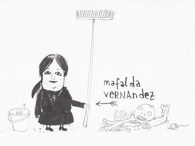 Putzfrau Mafalda Vernandez.