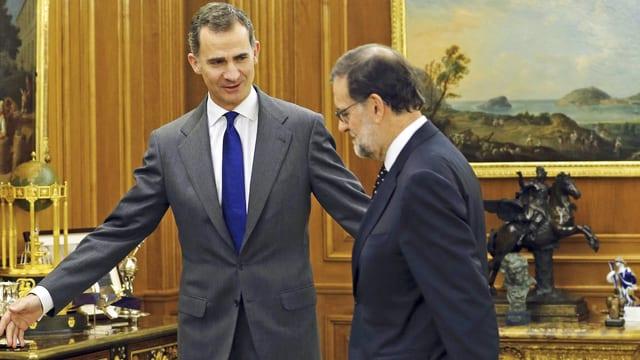 König Felipe und Mariano Rajoy