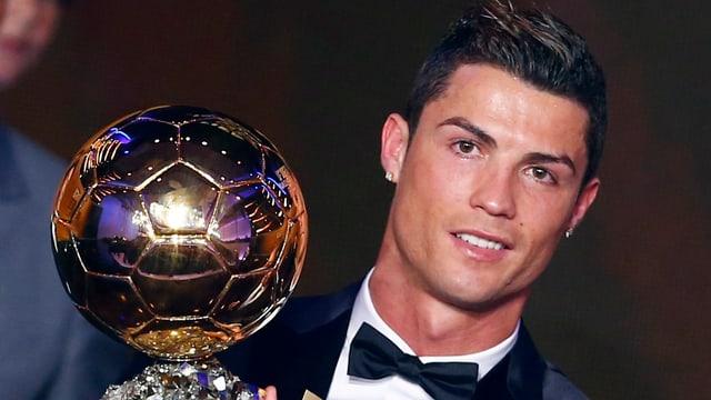 Cristiano Ronaldo präsentiert den Ballon d'Or