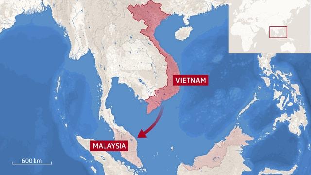 Karte Vietnam Malaysia