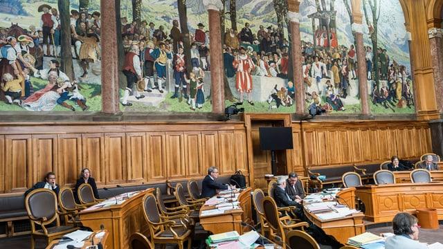 Der Ständeratssaal im Bundeshaus.