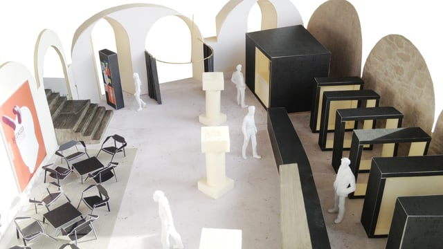 Nach den Ideen des Bieler Architekten Lars Mischkulnig wird das Foyer des Theaters Biel umgestaltet.