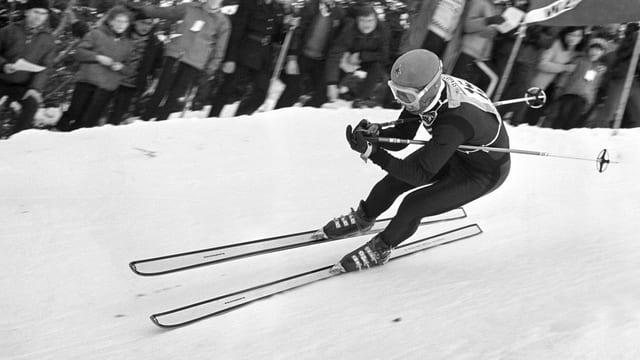 Der vierfache Lauberhorn-Sieger Karl Schranz (1959, 1963, 1966 und 1969).