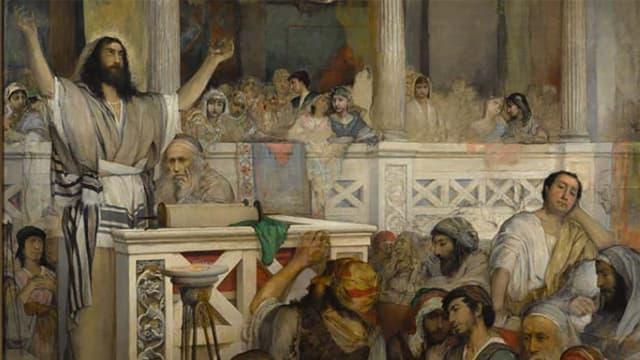 Maurycy Gottlieb: «Christus predigt in Synagoge von Kapernaum»
