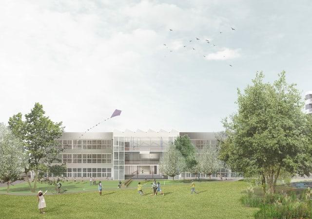 Visualisierung Schulhaus Guggach