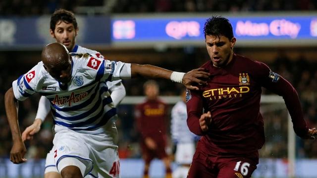 Sergio Agüero konnte sich gegen «QPR» nicht entfalten.