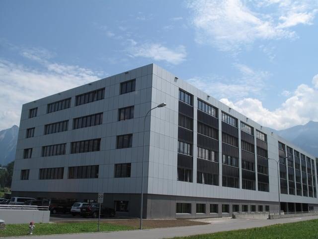 Der Neubau des Fabrikationsgebäude von Leister in Sarnen
