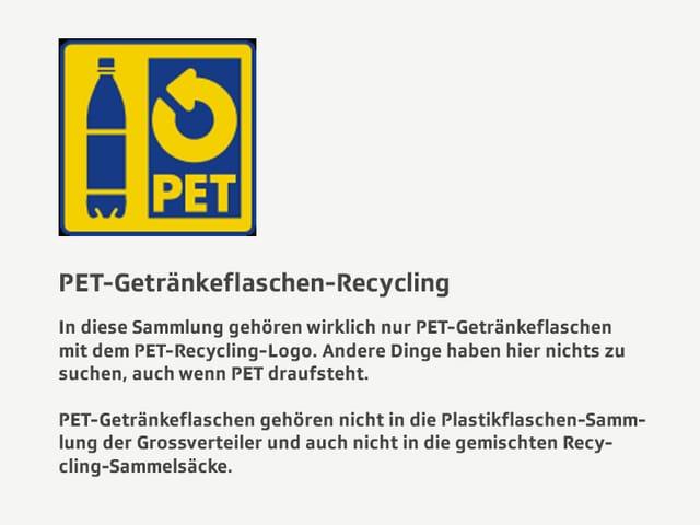 Recyclingtipps PET