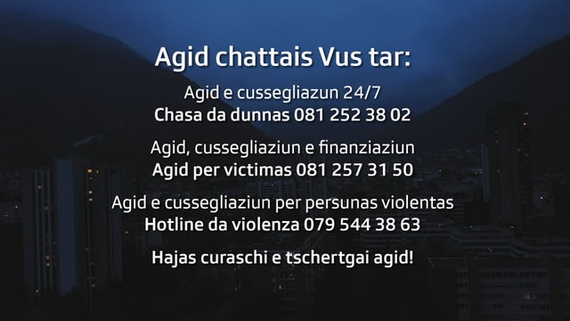 117 è il numer da la polizia, chasa dad dunnas 081 252 38 02, agid per victimas 081 257 31 50, e hotline per persunas violentas 079 544 38 63,