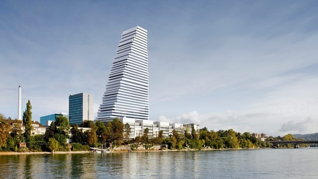 Ein Rendering des Roche-Towers von Herzog & DeMeuron.